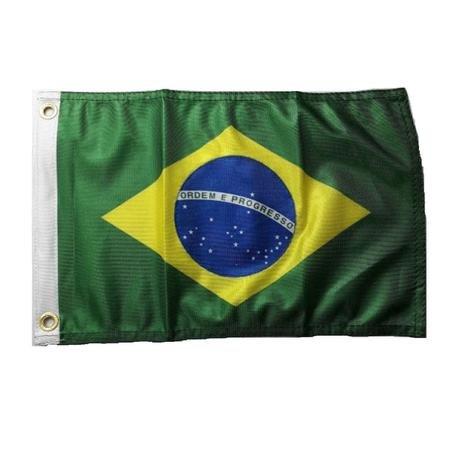 BANDEIRA DO BRASIL 22X33 TECIDO DURALON 100% POLIESTER