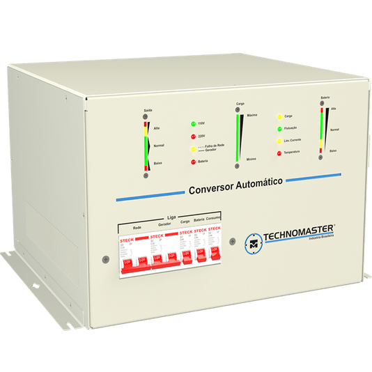 CONVERSOR MOTORHOME AUTOMATICO TECHNOMASTER 110/220V-12V 6.0 KVA