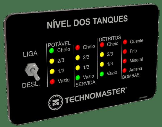 MEDIDOR/INDICADOR DE NIVEL DE TANQUES 12V/24V SEM SENSORES