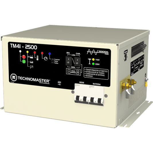 INVERSOR E CONVERSOR MOTORHOME AUTOMATICO TECHNOMASTER 4 EM 1 TM-41 12V