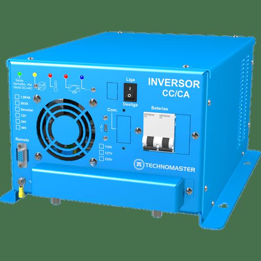 INVERSOR MOTORHOME TECHNOMASTER SENOIDAL PURA 12-220V 1.5 KVA