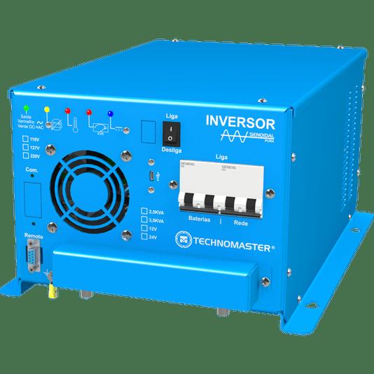INVERSOR MOTORHOME TECHNOMASTER SENOIDAL PURA 12-220V 2.5 KVA