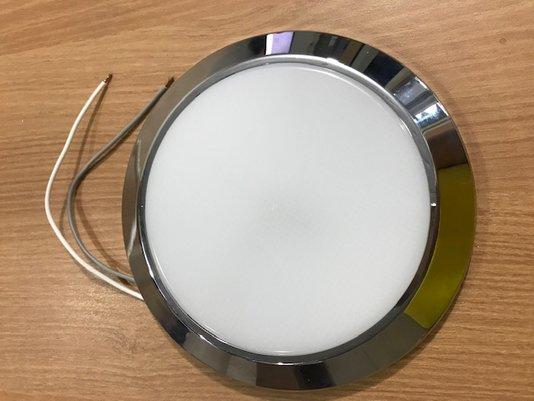 LUMINARIA CIRCULAR LED 12/24 V CROMADO